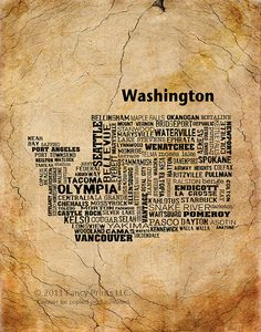 Washington Poster...maybe I should get one for each state I've lived in.