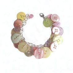 Jewelry Bracelet Charm Pastel Buttons Soft by LovesParisStudio, $30.00