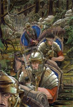 Soldiers of LEGIO X GPF are moving through the hostile territory,AD Greater part of all Roman units or their vexillationes(detachments)are once aga. Trough the jungle
