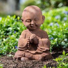Garden Buddha Statues: Praying Baby Buddha Statue