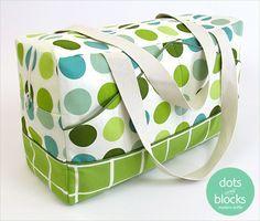 Dots & Blocks Modern Duffle | Sew4Home