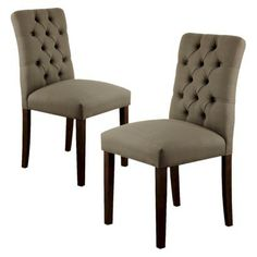 I really want these dining chairs in charcoal, Threshold™ Brookline Tufted Dining Chair - Set of 2
