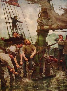 Henry Scott Tuke - All Hands To The Pump,1888