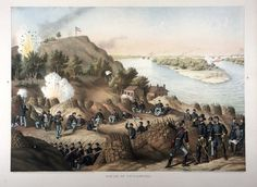 July 18, 1863: In this letter to Molly, who was visiting her oldest brother, Robert Wilson, in Washington, Illinois, James celebrates several recent Union victories.  On July 4, 1863, after a six-week siege, the Confederates surrendered at Vicksburg, Mississippi. Siege of Vicksburg. Chromolithograph by Kurz and Allison, 1888. Missouri History Museum. http://www.historyhappenshere.org/archives/7414