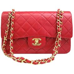 6475e6de1677 The Chanel Vintage Quildted Medium Double Flap Red Lambskin Leather Shoulder  Bag is a top 10 member favorite on Tradesy.
