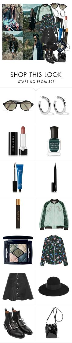 """Because you're my medicine"" by brownish ❤ liked on Polyvore featuring Illesteva, Sophie Buhai, Marc Jacobs, Deborah Lippmann, Eyeko, NARS Cosmetics, Elizabeth and James, Opening Ceremony, Christian Dior and Markus Lupfer"