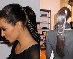 Fix Me Up Pretty: DIY Kim Kardashian hair jewelry!