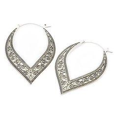 Swirl Tunnel Hoop Earrings #body-vibe #earrings #hinged