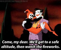 The Joker & Harley Quinn (gif) | Batman: The Animated Series