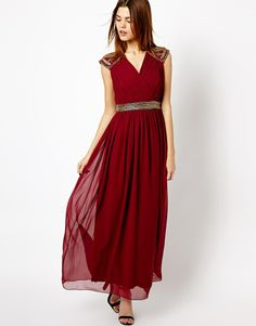 A Wear | A Wear Maxi Dress With Shoulder Embellishment at ASOS