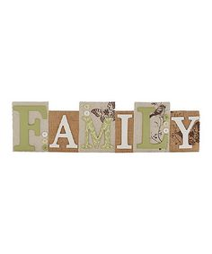 Another great find on #zulily! 'Family' Block Sign #zulilyfinds