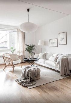 51 brilliant solution small apartment living room decor ideas and remodel 50 Home Design, Design Salon, Design Ideas, Design Design, Design Room, Flat Design, New Living Room, Living Room Chairs, Living Room Decor