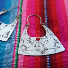 Sterling Silver Earrings - Hippie Earrings - Silver Boho Earrings - Handcrafted Jewelry  Arrows that were used to obtain the food needed to maintain