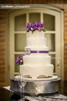 Iris and Lace Wedding Cake at the Alumni House Williamsburg