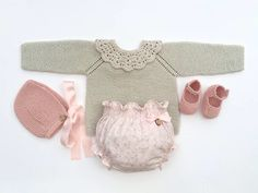 Baby Clothing Set: Sweater Collar Bloomers by MarigurumiShop Knitting For Kids, Crochet For Kids, Baby Knitting, Crochet Baby, Knit Crochet, Knitted Baby Clothes, Baby Knits, Baby Barn, Baby Princess