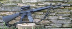 """M16 A1 603 upper 20"""" 1 in 9 twist 3 prong flash hider with Aero Precision Ghost Gun lower Colt 3x20 scope and M7 bayonet."""