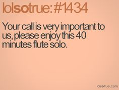 Your call is very important to us, please enjoy this 40 minutes flute solo.