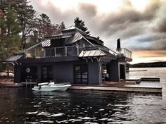 Black Rock Boathouse - contemporary - Exterior - Toronto - Muskoka Custom Carpentry ltd.