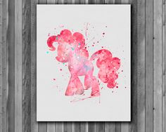 Pony Pinkamina Diane, My Little Pony poster - Art Print, instant download, Watercolor Print, poster by digitalaquamarine on Etsy https://www.etsy.com/listing/214358186/pony-pinkamina-diane-my-little-pony