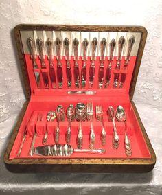 Vintage flatware Vintage wedding table Rogers Oneida Enchantment by LovingCupVintageKM on Etsy
