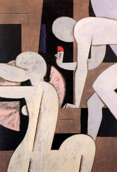 Yannis Moralis / Γιάννης Μόραλης is an outstanding figure in Modern Greek painting. He became a professor at the School of Fine Arts at a very early age and for years taught the younger generations of Greek painters. Greek Paintings, Art Et Illustration, Greek Art, Art Moderne, Artist Art, Figurative Art, Oeuvre D'art, Modern Art, Abstract Art