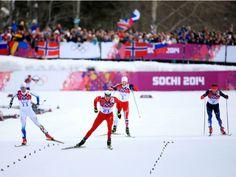 Лыжные гонки, скиатлон, финиш