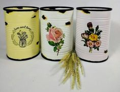 Creative Crafts, Diy And Crafts, Decoupage, Soda Can Crafts, Make And Sell, Sweet Home, Shabby Chic, Canning, Handmade