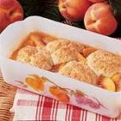 #recipe #food #cooking Peach Cobbler for Two