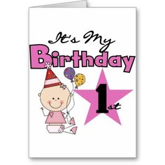 Girl Its My Birthday Tshirts and Gifts Greeting Card