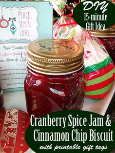 Easy Cranberry Spice Jam and Cinnamon Chip Biscuits (Plus Gift Idea ...