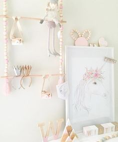 Definitely one of my fav nurseries @lifewithwinter - what a lucky little girl ✨ Our unicorn print looks amaze amongst all these other IG pretties - tap for details! Unicorn print available now www.toucanonline.com