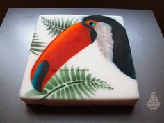 Cake with toucan painting - Cake by DolciChicche