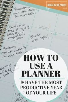 How to Use a Planner & Have the Most Productive Year of Your Life Ready to have the most productive year of your life? Today I'm talking about how to use a daily planner to help you organize your goals prioritize your tasks. Planner Tips, Planner Pages, Life Planner, Happy Planner, Printable Planner, Printables, 2015 Planner, College Planner, How To Use Planner
