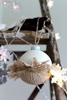 DIY Tutorial: DIY DOILY CRAFTS / DIY Doilies at Christmas Time and an Easy Cookie Dough Recipe - Bead