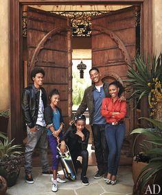 Will and Jada Pinkett Smith and family