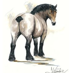 Jan Kunster Horse Prints - Chronos (Draft Horse)