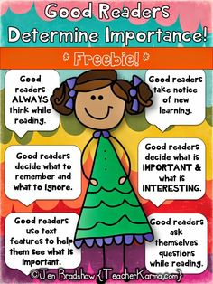 Determining importance lessons for improving comprehension ~ FREE!