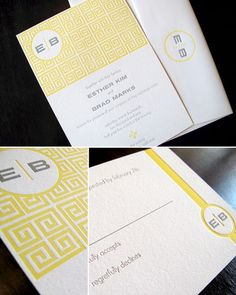 Wedding Invitations — Anemone Letterpress | Design + Photo: Anemone Letterpress