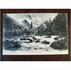 Switzerland Lutschine mit Jungfrau 177 vintage old Photoglob UPU postcard river