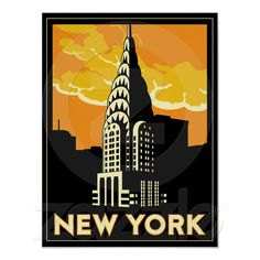 Shop new york united states usa vintage retro travel postcard created by Personalize it with photos & text or purchase as is! Vintage Travel Posters, Vintage Postcards, Vintage Prints, Retro Vintage, Vintage Style, Design Your Own Poster, Estilo Art Deco, Tourism Poster, Retro Poster