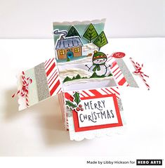 Holiday Cheer Box Card by Libby Hickson for Hero Arts