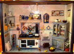Roomboxe cucina azzurra.