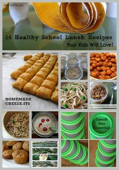 New Nostalgia: 14 Healthy School Lunch Recipes Your Kids Will Love #healthy #schoollunch #recipes