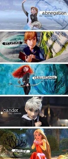 if Disney characters were in a faction...