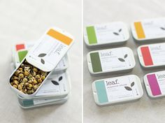 Genius idea! Tea favor with pretty color label