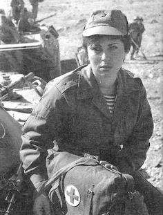 Soviet field nurse in Afghanistan