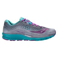 Challenge your speed limits like never before in the updated Womens Saucony Kinvara 8 running shoe