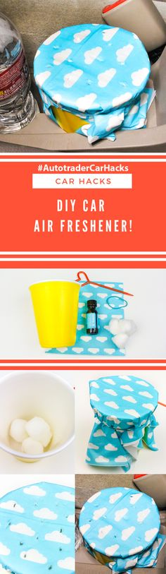 "#AD Hey All! I made this easy DIY Car Air Freshener after reading this awesome @Autotrader ""Car Hacks"" article on Autotrader.com! See the step by step to do it in this photo and check out the ""Car Hacks"" article on Autotrader.com for more great hacks for your car! You can also find all the best car-related research and news to help you with your car buying process on Autotrader.com! #AutotraderCarHacks #Autotrader #CarHacks"