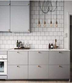 Wohnen: Die graue Küche - amazed Living: The gray kitchen - amazed Apartment Kitchen, Living Room Kitchen, Kitchen Interior, New Kitchen, Kitchen Decor, Kitchen Ideas, Kitchen Walls, Decorating Kitchen, Awesome Kitchen