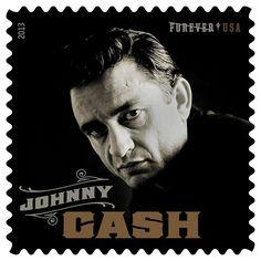 johnny cash op een postzegel